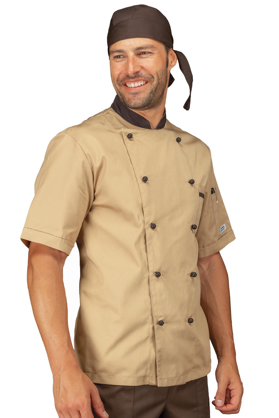 Isacco Giacca Cuoco Bicolore Isacco Biscotto+Testa di Moro Biscotto+Testa di Moro 65/% Poliestere 35/% Cotone M Manica Lunga