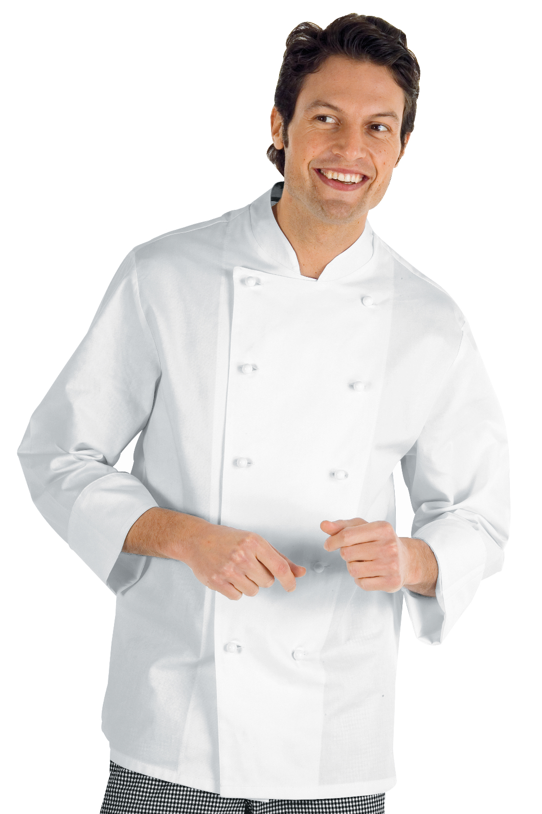 Mezza Manica Bottoni a pressione Bianco Tessuto 195 gr//m/² 65/% Poliestere 35/% Cotone M Isacco Giacca Cuoco Classica Bianco